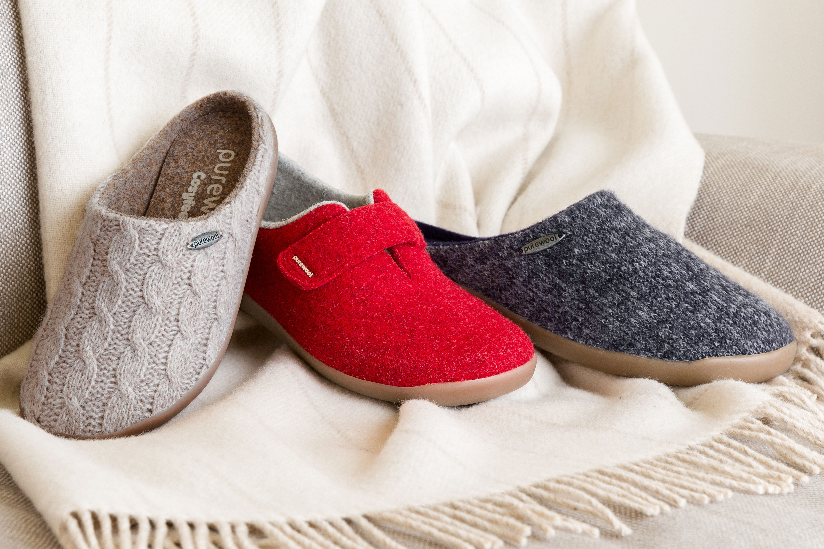 Purewool™ slippers range