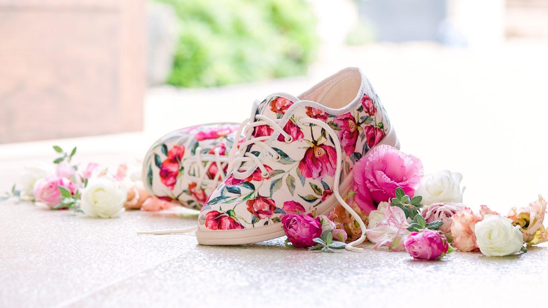 Sammi floral extra roomy shoe