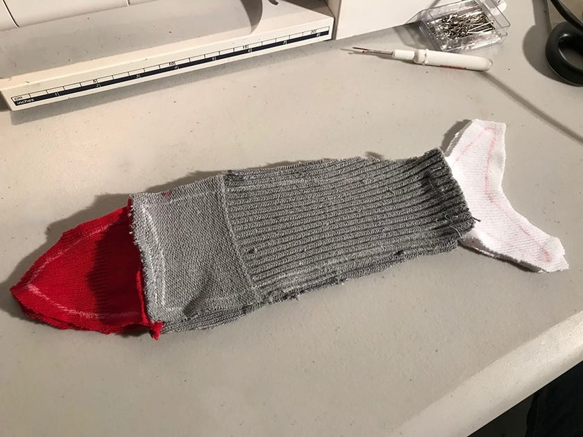 How to make a sock fish craft