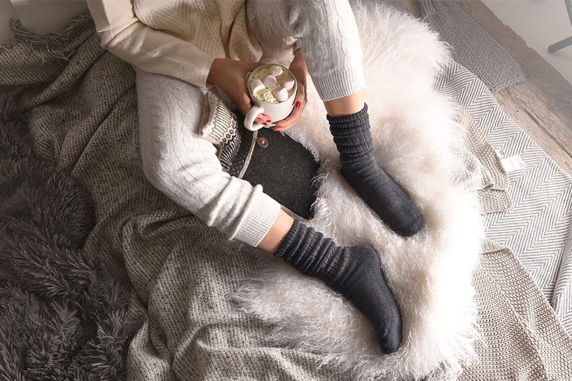 Wool-rich Softhold® Socks in Grey