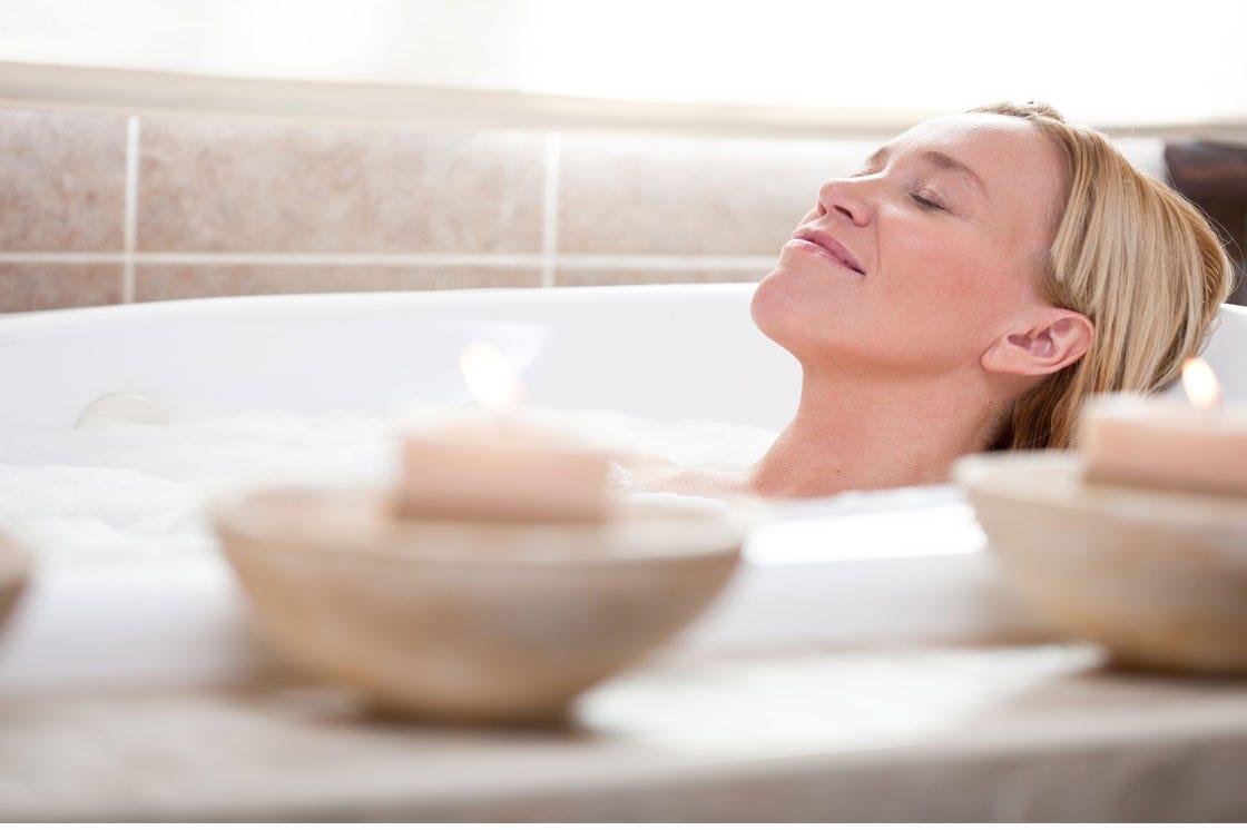 Luxurious bubble bath
