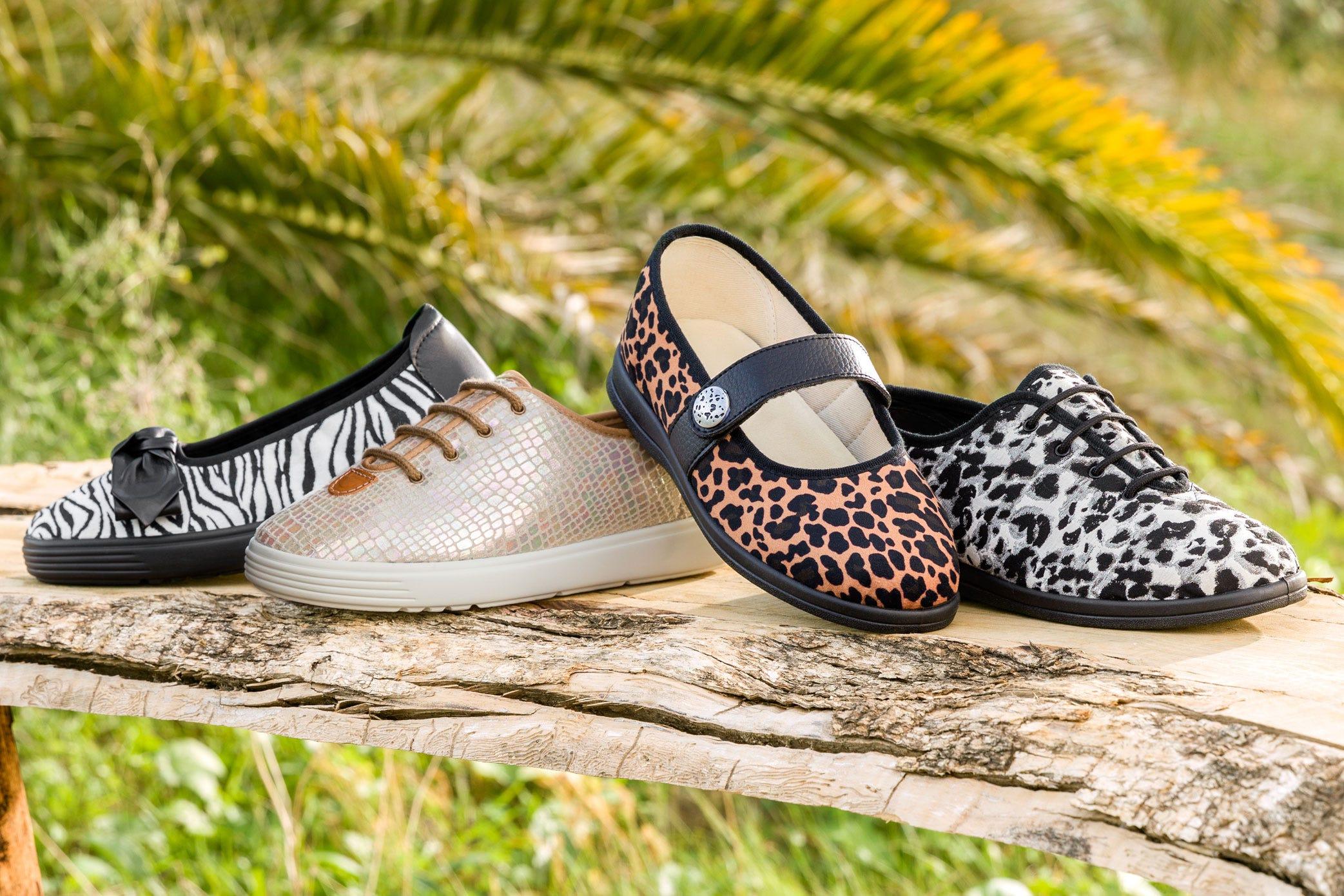 Animal print footwear