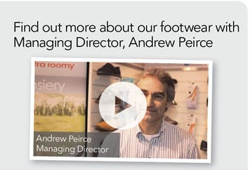 Find out more about our Footwear with our Managing Director, Andrew Peirce