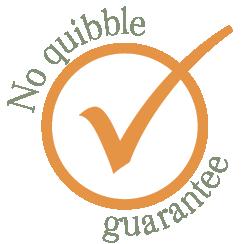 No quibble money back guarantee