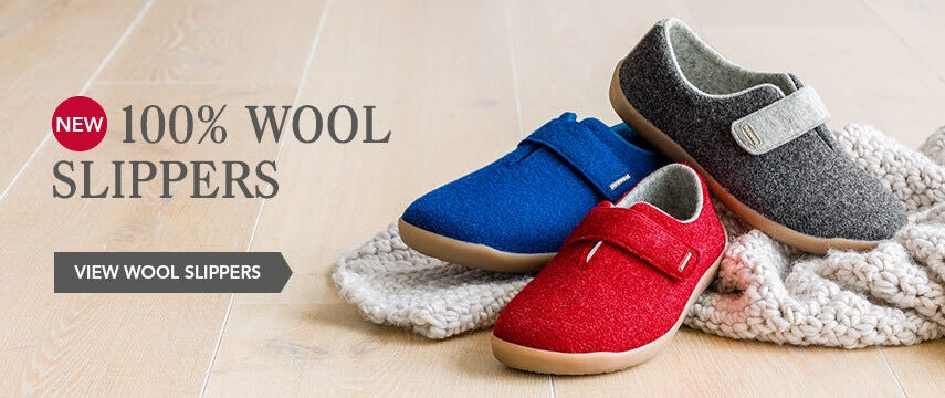 New 100% wool slippers
