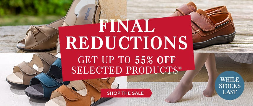 Up to 55% off selected products