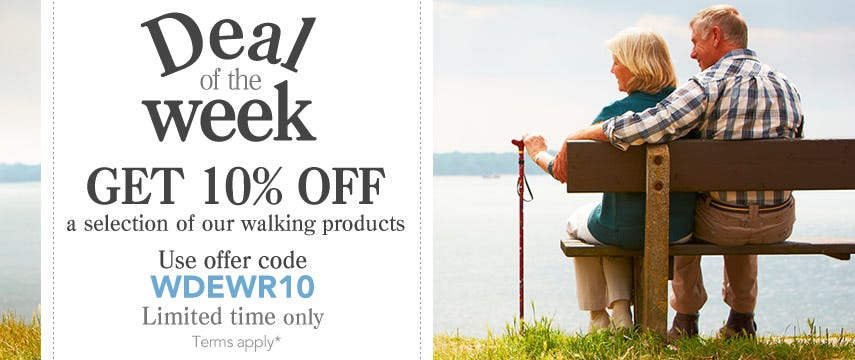 10% off walking products