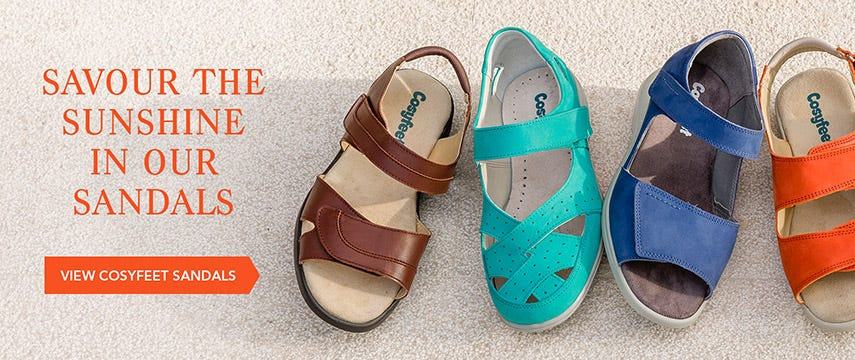 Savour the sunshine in our sandals
