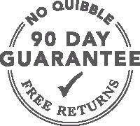 90 Day No Quibble Money Back Guarantee
